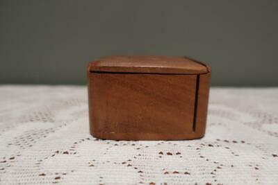 Vintage Small Wooden String? Box - Sliding Lid - Signed - Collectable - Vgc