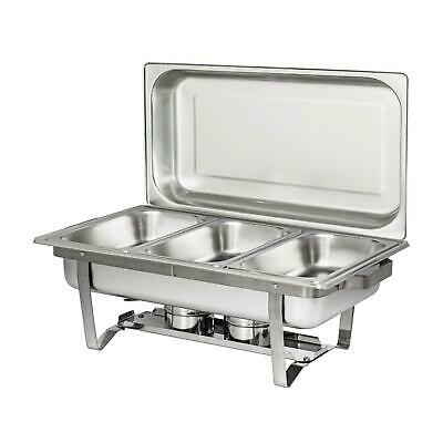 1 Pack Catering Classic Stainless Steel Chafer Chafing Dish Set 3 L / 3.2 QT