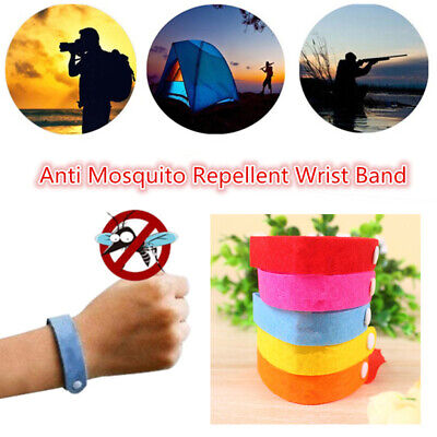 5/10Pcs Anti Mosquito Insect & Bug Repellent Bracelet Bands Travel Supply