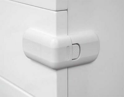 4 pcs White Door Drawer Cabinet Fridge Safety Lock for Child Baby Toddler Kid