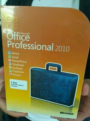 MICROSOFT OFFICE 2010 Professional 32/64 Bit Retail for 2 PC