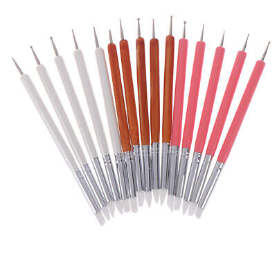 5pcs/Set soft pottery clay tool silicone+stainlestwo head sculpting art tool.