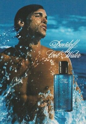 Carte  publicitaire + patch - advertising card  -  Cool Water Davidoff