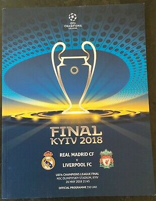 2018 Uefa Champions League Final Programme Real Madrid V Liverpool Plus Poster