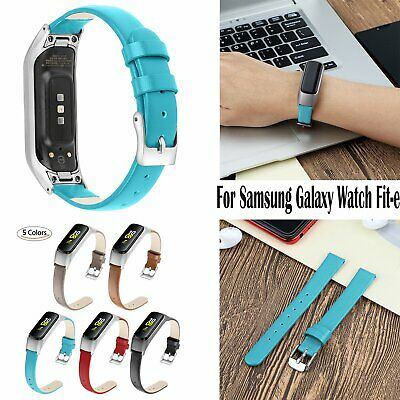 Genuine Leather Watchband Watch Strap Bracelets for Samsung Galaxy Watch Fit-e