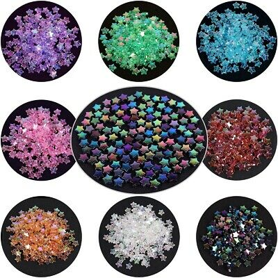 100pcs 11x4mm AB Mixed Color Acrylic Spacer Beads Pentacle Star DIY Jewelry-WI