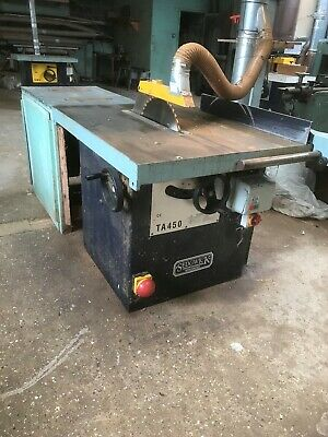 Sedgwick TA450 Table saw with Tilt 16ins blade fitted