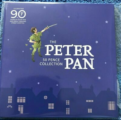 2019 PETER PAN 50p 6 COIN COMPLETE SET 90th ANNIVERSARY PACKAGING Gt Ormond St