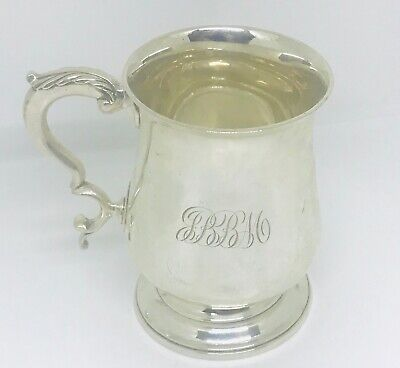Antique Rare  English Sterling solid silver cup or Tankard  , London, year 1779