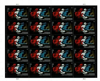 One Sheet Of 20 1St Responders Usps First Class Forever Postage Stamps