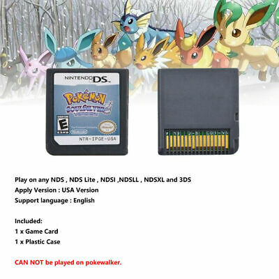 Pokemon SoulSilver Version Game Card Fits Nintendo 3DS NDSI NDS Lite NEW Gift X