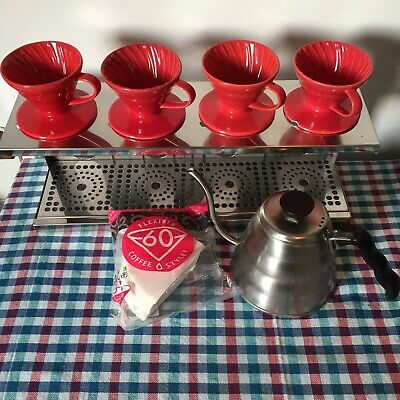 Hario V60 CUPS & POURING KETTLE plus stainless steel stand Value £350