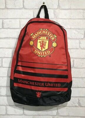 Manchester United Official Rucksack Man Utd School Bag Brand New With Tags