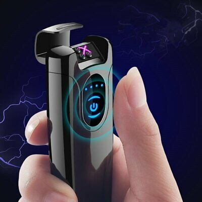 Smart Double Pulsed Arc Lighter USB Charge For Cigarette Lighter Men Electronic