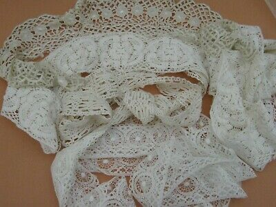 NICE LOT LACE TRIMS & COLLAR - vintage and modern haberdashery