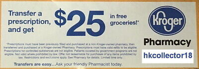 $25 off Groceries Kroger Pharmacy Store Coupon