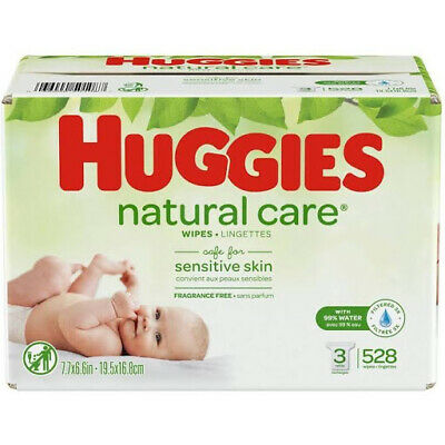 Natural Care Wipes 3pk - 528ct