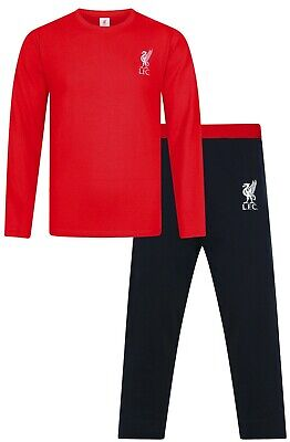 Mens Liverpool Football Club Long Pyjamas Premier League PJs LFC Pyjama PJ Red