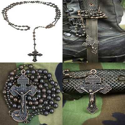 Soldier Of God Military Rosary By Antique Copper FREE SHIPPING Mens