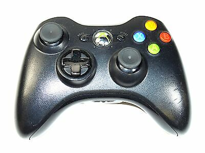 Genuine OEM Microsoft Xbox 360 Wireless Black Controller with Transforming D-Pad