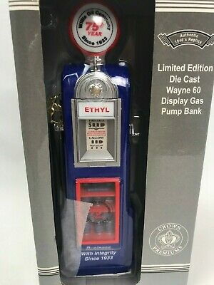 Rare Willis Oil Co Replica Cast Wayne 60 Ethyl Display Gas Pump Bank 1:12 Scale