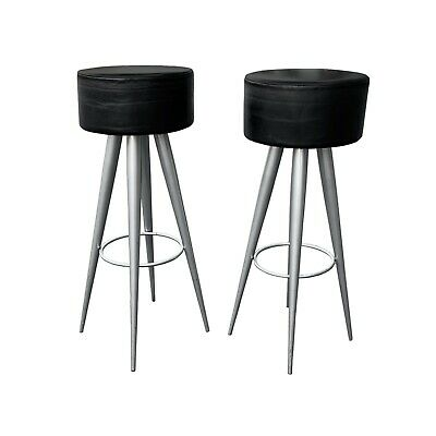 Super Mart Stam Chrome Black Leather Bar Stools Made In Italy Pdpeps Interior Chair Design Pdpepsorg