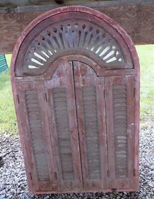 5' Vintage Window Frame with Shutter Doors Architectural Salvage Window Decor g