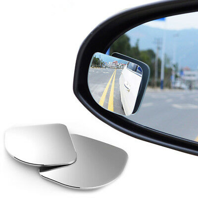 AU_ 2 Car Rearview Blind Spot Side Rear View Mirror Convex Wide Angle Adjustable