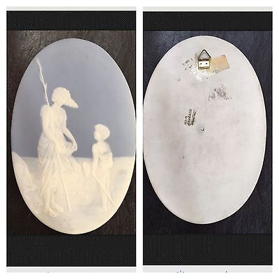Plaque Ovale En Biscuit Camille Tharaud Limoges France