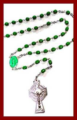 """Little Irish Rosary"" FREE SHIPPING Unisex Adult Fashionearring"