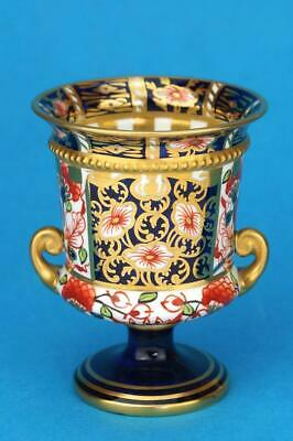 SUPERB Antique c1900 ROYAL CROWN DERBY 7cm JEWELLED Campana Vase IMARI  6299