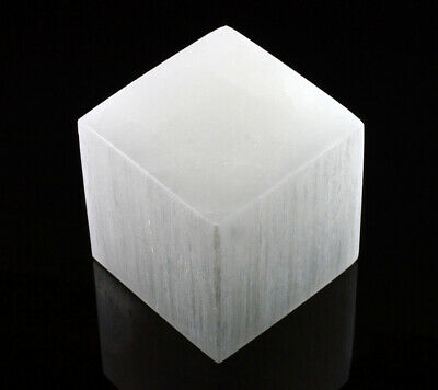XL Selenite Crystal Charging Disk Plate Cube Square Statio Block Healing Cleanse