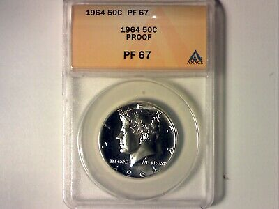 ANACS PR67 1964 Silver Proof Kennedy Half (358)