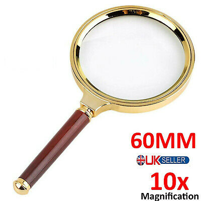 60mm Handheld Jewelry Classic 10X Magnifier Magnifying Glass Loop Loupe Reading