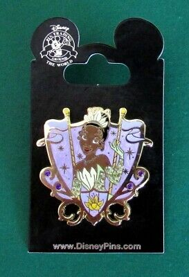 Disney Pin Princess Jeweled Shield Crest - Princess and Frog - Tiana