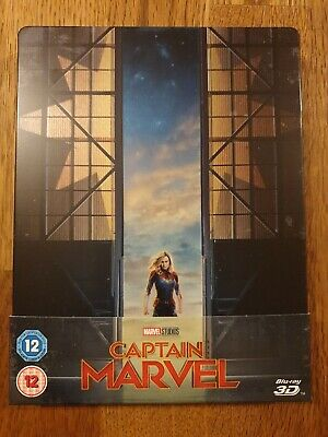 Captain Marvel 2D Only Zavvi Exclusive Blu Ray Steelbook - READ DESCRIPTION