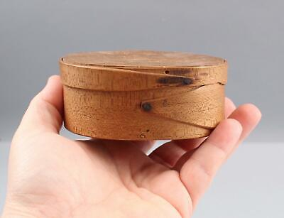 Antique 19thC Miniature American Primitive Oval Wood Pantry Box, NR