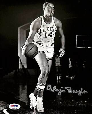 Lakers Elgin Baylor Authentic Signed 8x10 Photo Autographed PSA/DNA Itp #6A30754