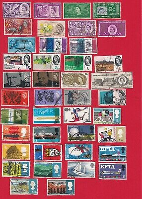 GB QE2 (1958 to 1967) 18 used commemorative sets, 41 used stamps