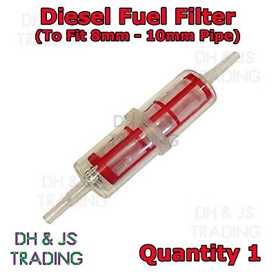 4 Pack Universal Inline Large Diesel Fuel Filter To Fit 8mm 10mm Pipe