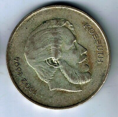 1947 Hungary  silver 5 Forint coin : 12g