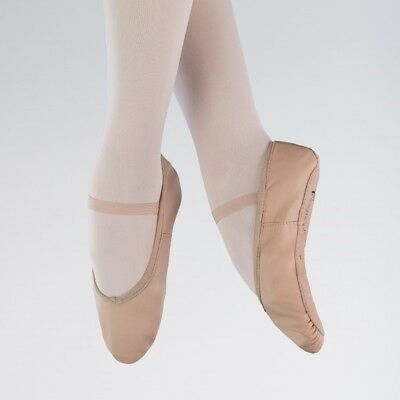 1st Position Pink Leather Ballet Dance Shoes