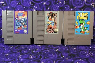 NES Mega Man 3, Castlevania 3 Dracula's Curse, Yoshi's Cookie Lot of 3 Games