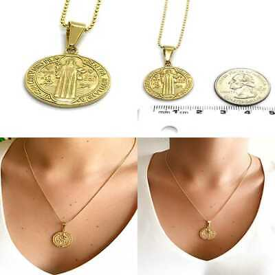 e369ce64876 St Benedict Protection Medal 18K GOLD Plated Necklace 18