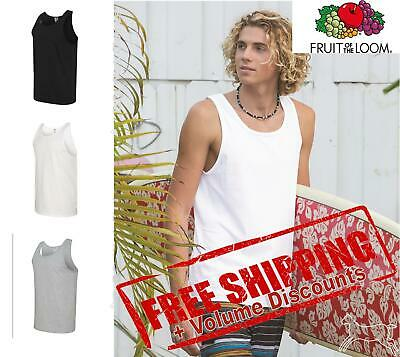 Fruit of the Loom Mens HD Cotton Tank Top Shirt Blank 39TKR up to 3XL