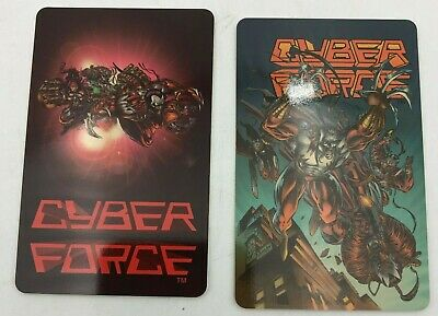 (2) Cyber Force Top Cow Image Collector Comic Book Phone Cards