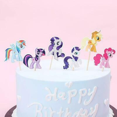 24 PCS MY Little Pony Cupcake Cake Toppers Kids Party Supplies