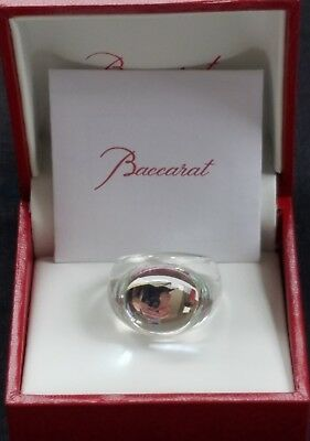 Baccarat Crystal Tango Ring Mirror Clear Crystal Size 51 New In Box