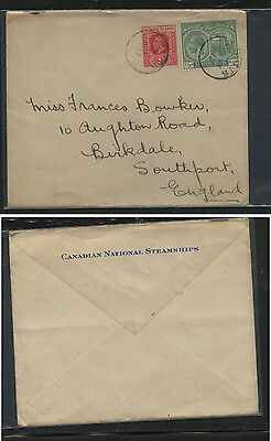 Leeward Islands & St Kitts franking cover to England         KL0626