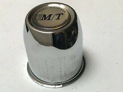 M/T Mickey Thompson Custom Wheel Center Cap Chrome Alloy Push Through 3 1/8""